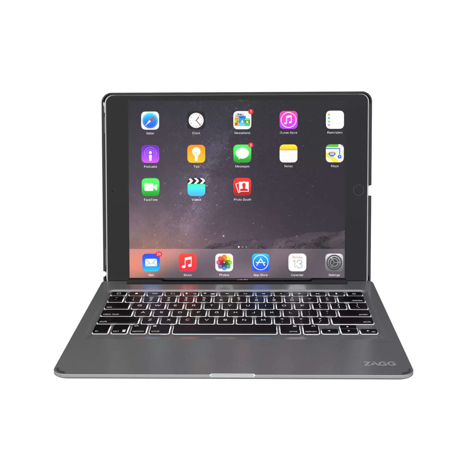 8068c130a93 ZAGG Slim Book Case with Keyboard for iPad Pro 12.9 (1st & 2nd Gen.)