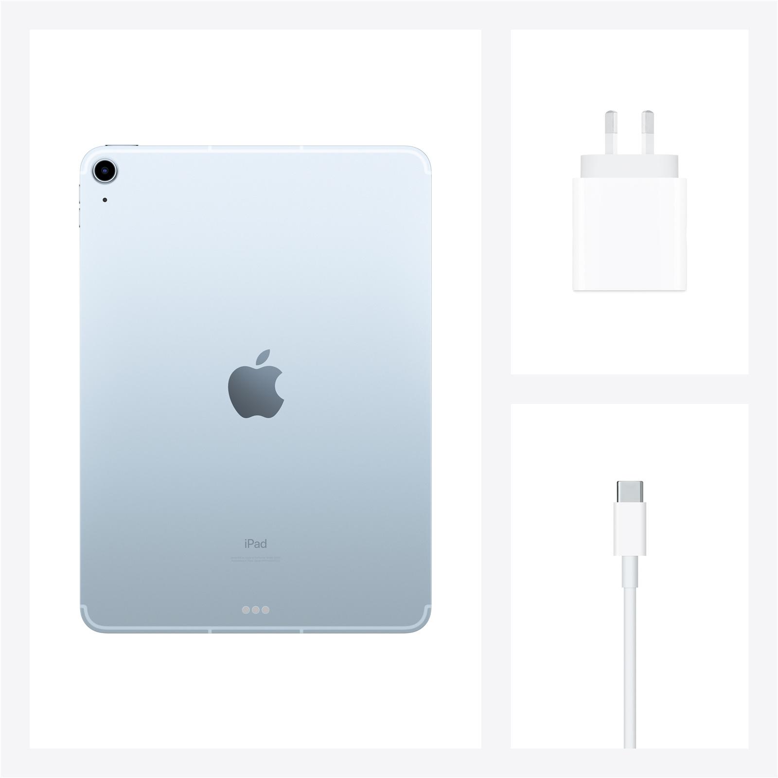 Buy The Apple Ipad Air 4th Gen 10 9 64gb Cellular Wi Fi Sky Blue Myh02x A Online Pbtech Co Nz