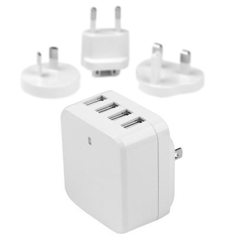 f51f8c3ec96b25 StarTech USB4PACWH 4-Port USB Wall Charger - International Travel -  34W/6.8A - White