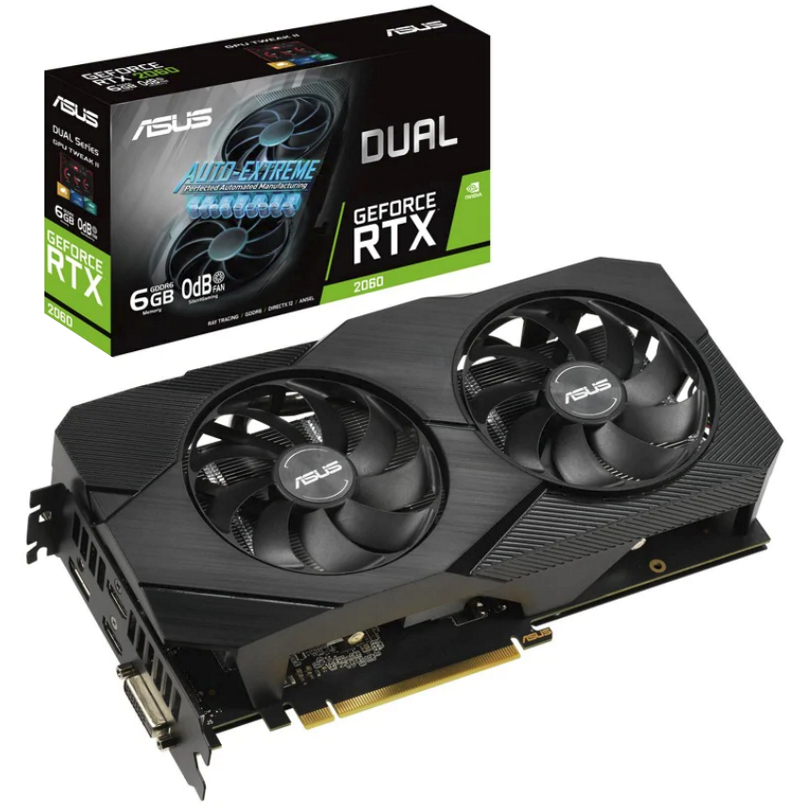 Buy the ASUS GeForce RTX 2060 Dual OC Graphics Card 6GB