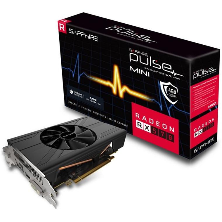 Buy the Sapphire Pulse Radeon RX570 4G GDDR5 ITX Graphics Card, GPU