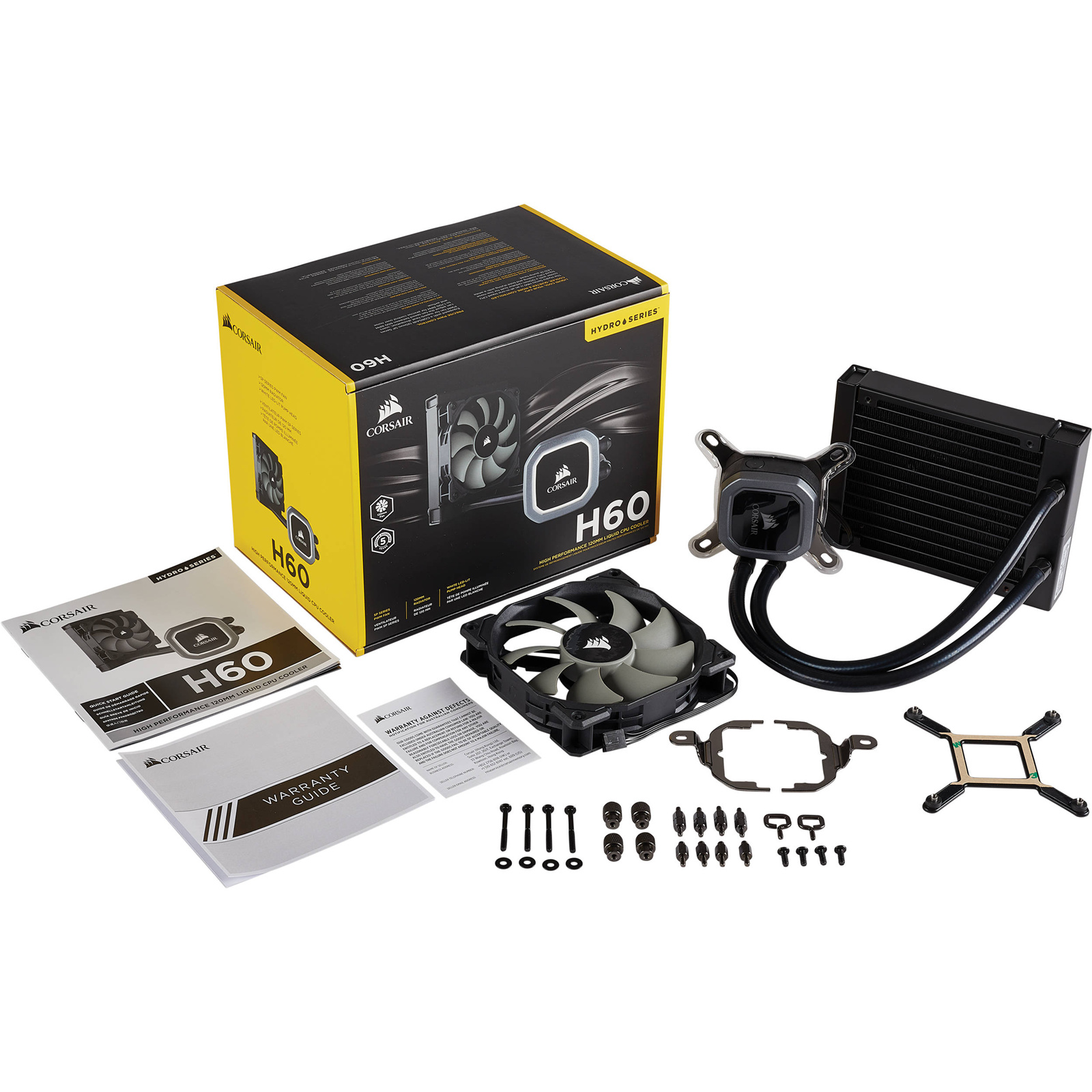 Buy The Corsair Hydro Series H60 V2 All In One Liquid Cooling With H100i Water Cooler 120mm Radiator And White Led Lit Pump