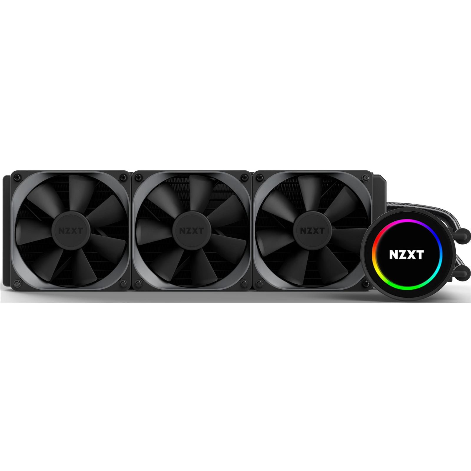 Buy the NZXT Kraken X72 All in one Liquid Cooler High-Performance, 360MM  RGB     ( RL-KRX72-01 ) online