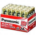 Panasonic LR03T/24V AAA 24pcs Alkaline 1.5V Bulk Value Pack Alkaline-Zinc 20 Longer Lasting protects power for upto 10 years