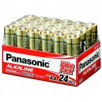 Panasonic LR6T/24V AA 24 Pack 1.5V Alkaline bulk pack Alkaline-Zinc 20 Longer Lasting protects power for upto 10 years
