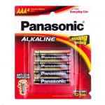 Panasonic LR03T/4B Alkaline Batteries AAA 4 Pack blister 1.5 Volts