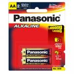 Panasonic LR6T/2B Alkaline Batteries AA 2 Pack mercury free and leak resistant - Best value for money