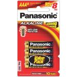 Panasonic Alkaline LR03T/8B Batteries AAA 8 Pack  Powerful enough to be used in almost all compatible electrical devices