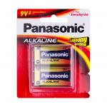 Panasonic 6LR61T/2B Alkaline Batteries 9 Volt 2 Pack 9V 20% Longer Lasting Alkaline-Zinc