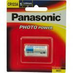 Panasonic CR-123AW genuine CR123A 3V Photo Lithium Camera Battery 1pk 1400mAh