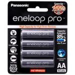Panasonic BK-3HCCE BK-3HCCE/4BT Eneloop PRO AA 4PK Pack 2550mAh 1.2V designed for high drain devices. Rechargeable Batteries