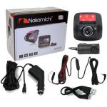 Nakamichi ND59 Dual Channel Dash Cam with Front 140 degree Horizontal extra-wide viewing angle, Support Front: 1080P 30FPS, Back: 720p 30FPS, Built-in G-Sensor