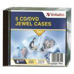 Verbatim 41851 5pk Empty CD Jewel Cases