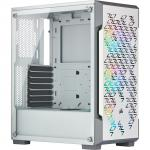Corsair iCUE White 220T RGB Airflow ATX MidTower Gaming Case Tempered Glass, 3X120 Front RGB Fan, 360mm Rad Supported, Front 2XUSB3.1, HD Audio,