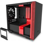 NZXT H210 Premium Matte Red/Black Edition Mini ITX Gaming Case Tempered Glass, With CPU Cooler Supports Upto 165mm, Graphics Supports Upto 325mm, 240mm Rad Supported, 2xPCI Slots,  Front 1XUSB3.0, 1xType C,  HD Audio, NO PSU
