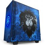 NZXT H510 World Of Warcraft Alliance Limited Edition Tempered Glass, CPU Cooler Supports Upto 165mm, Video Card Supports Upto 381mm, 280mm Rad Supported, 7X PCI Slots, Front 1X USB 3.0, 1XType C, HD Audio, NO PSU