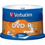 Verbatim x16 DVD-R 50pk Spindle White InkJet Printable 4.7GB w/Advanced Azo Superior Archival Life