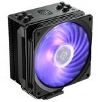 Cooler Master Hyper 212 RGB Black Edition CPU Cooler Gun-metal Black with Brushed Aluminum Surface Finish, 1x120mm RGB fan with Controller, For Intel LGA 2066 / 2011-v3 / 2011 / 1151 / 1150 / 1155 / 1156 / 1366, AMD AM4 / AM3+ / AM3 / AM2+