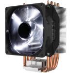Cooler Master Hyper H411R CPU Cooler with 92mm White LED PWM Fan, 4 Heat Pipes / Direct Contact / Aluminum Fins Intel: LGA 2066 / 2011-3 / 2011/1200/ 1151 /1150 /1155 /1156 / 1366 / 775, AMD AM4 / AM3+ / AM3 / AM2+ / AM2 / FM2+ / FM2 / FM1