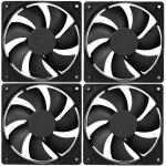 Cooler Master 4 X 120mm Case Fan, 3 pin connector,