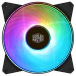 Cooler Master MasterFan Addressable PWM RGB FAN 140mm Certified compatible with ASUS, AsRock and MSI RGB motherboard, Support CM Plus Software Control