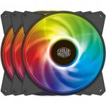 Cooler Master MasterFan 3 in 1 Kit Addressable PWM RGB FAN 3x MasterFan Pro 120mm Addressable RGB Fan + 1x mini RGB Controller, Certified compatible with ASUS, ASRock and MSi RGB motherboard