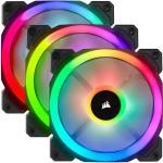 Corsair LL Series LL120 RGB Dual Light Loop PWM Fan 120mm Triple Pack (3 Fan) with Lighting Node Pro