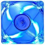 DEEPCOOL DP-FLED-XF80LB 80mm Fan, Transparent Frame with Blue LED 3 pin plus molex