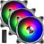 Lian Li Bora Digital Addressable RGB PWM 120mm PWM Fan,  With Controller,  3 Pack.  Grey