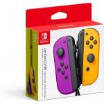 Nintendo Switch Joy Con Neon Purple and Neon Orange Controller Set