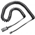 Poly 38099-01 U10PS Cable  Coil Cord to QD Modular Plug for H-Series headset U10P-S --by Plantronics