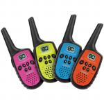 Uniden UH35-4 QUAD PACK 500mW UHF-CB Handhelds - Coloured Face Plates Mini walkie talkie 3+km 20+hrs 80channels compact Size AAA
