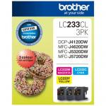 Brother Ink Cartridge LC233CL3PK Cyan/Magenta/Yellow Inkjet 500 pages 3/Pack