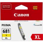 Canon CLI681XLY Ink Cartridge Yellow, Yield 500 pages, for Canon TR7560, TR8560, TS6160, TS6260, TS6360, TS6365 TS8160, TS8260, TS8360, TS9160 , TS9565, TS9560, TS706 Printer