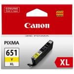 Canon Ink Cartridge CLI651XLYOCN Yellow 750 pages High Yield