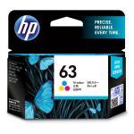 HP 63 Ink Cartridge Tri-colour, Yield 190 Page for HP DeskJet 2130, 2131, 3630, 3632, Envy 4520, 4522, OfficeJet 3830, 4650, 5220 Printer