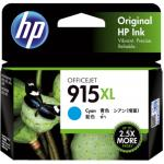 HP 915XL Ink Cartridge - Cyan - Inkjet - High Yield - 825 Pages