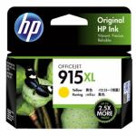 HP 915XL Ink Cartridge - Yellow - Inkjet - High Yield - 825 Pages