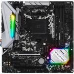 ASRock B450M Steel Legend mATX motherboard For AMD Ryzen 2nd/3rd Gen, Socket AM4, 4XDDR4 DIMM, 2X M.2, 2XPCIE X16, 1XPCIE X1, 7XUSB, 1XType C, LAN, HDMI/DP, Internal I/O: 1XUSB3.1, 2XUSB2.0, 1X 12V RGB Header, 1X 5V RGB Header