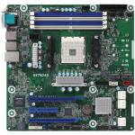 ASRock Rack X470D4U Motherboard, mATX, Socket AM4 (Ryzen), X470, 4 DIMM, 2x GbE LAN, 2x PCI-E 3.0 x16, 1x PCI-E 3.0 x8, 6x SATA3, 2x M.2 SATA/PCIe, 2x USB3.1 Gen1, IPMI with dedicated LAN