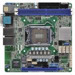 ASRock Rack E3C236D2I Server Motherboard, Intel C236 Chipset, Socket LGA1151 For Intel Xeon E3-1200 v5/v6 Series Processors Mini ITX, 2 x DDR4 DIMMs, 2 x RJ45 GLAN by Intel  i210+Intel  i219 , USB 3.0, VGA, Serial port