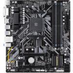 Gigabyte GA-B450M-DS3H mATX Motherboard, For AMD Ryzen 2nd/3rd Gen, Socket AM4, B450, 4XDDR4 DIMM, 1XM.2, 2XPCIE X16, 1XPCIE X1, 8XUSB, LAN, HDMI/DVI, Internal I/O: 1XUSB3.1, 2XUSB2.0, 1X12V RGB Header