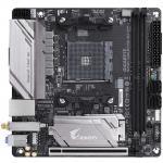 Gigabyte GA-B450I Aorus Pro WIFI Mini ITX For AMD Ryzen 2nd/3rd Gen, Socket AM4, B450, 2XDDR4 DIMM, 1XM.2, 1XPCIE X16, 6XUSB, DUAL HDMI,/DP, LAN, AC Wifi+, BT, Internal I/O: 1XUSB3.1, 1XUSB2.0, 1X 5V RGB Header
