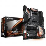 Gigabyte X470 AORUS ULTRA GAMING ATX For AMD Ryzen Socket AM4. AMD X470 Chipset 4x DDR4 - 3200 DIMM, 2x M.2  6x SATA3 HDMI, USB 3.1, 2-Way CrossFire/ SLI, RGB FUSION