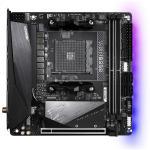 Gigabyte B550I AORUS PRO AX ITX For AMD Ryzen 3rd Gen 5000 Series CPU,AM4, B550, 2XM.2, 2XDDR4 Dimm, Back I/O: 5XUSB, 1XType C, DP, 2XHDMI, Lan, Wifi AX+BT, HD Audio, Internal I/O: 1XUSB 2.0, 1XUSB 3.2, 1X12V RGB Header, 1X5V A-RGB Header