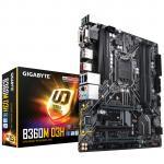 Gigabyte B360M D3H MATX For Intel 8th/9th Gen LGA1151, 4x DDR4 - 2666 DIMM M.2 SATA3 VGA/DVI/DP/HDMI, 4x USB3.1