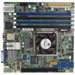 Supermicro X10SDV-4C+-TLN4F Server Board, Mini-ITX, Xeon D-1518 4C/8T 35W, 4 DIMM, 2x 10GbE, 2x GbE, 6x SATA3, 2x USB3.0, 1x PCI-E 3.0 x16, 1x VGA, IPMI