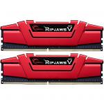 G.SKILL Ripjaws V Series 8GB (2 x 4GB) DDR4 2666Mhz CL15 1.2v Red Desktop Memory Model F4-2666C15D-8GVR 15-15-15-35