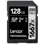 Lexar Professional 128GB SDXC UHS-II ,V60, 1667x, up to 250MB/s read,90MB/s Write Captures high-quality images and extended lengths of stunning 1080p full-HD, 3D, and 4K video with a DSLR camera, HD camcorder,
