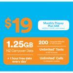 2degrees $19 Carryover Combo Multi Prepay SIM card - Standard/Micro/Nano
